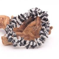 Clear Quartz with Black Tourmaline Bracelet | Crystal Healing
